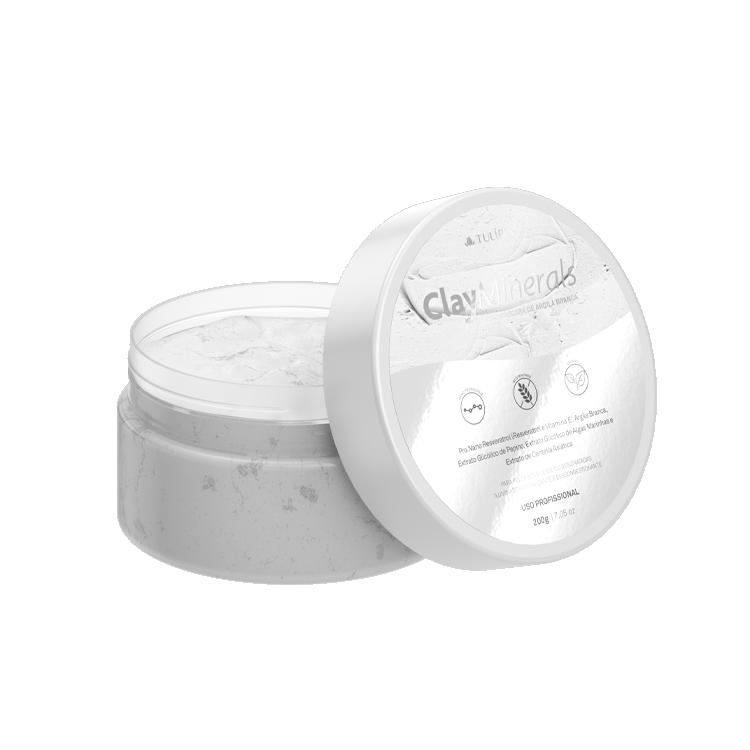 Clay Minerals Nano Máscara de Argila Branca 200g