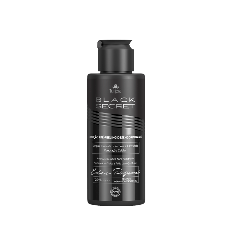 Black Secret Pré Peeling Desengordurante 120ml